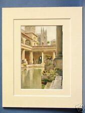 THE ROMAN BATH QUALITY VINTAGE DOUBLE MOUNTED HASLEHUST PRINT 10 X 8 c1920
