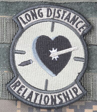 LONG DISTANCE RELATIONS SNIPER ACU CLOTH MORALE EMBROIDERED PATCH TACTICAL GUN