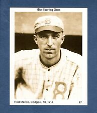 "#27 Fred ""Bonehead"" Merkle 1916 Dodgers/1981 The Sporting News Conlon Collection"