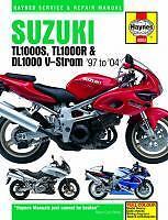 Haynes Manual SUZUKI TL DL TL1000 S & TL1000R 1997-03 & DL1000 V-STROM 2002-04