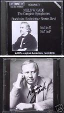 Neeme JÄRVI Signed Niels Wilhelm GADE Symphony No.2 & 7 BIS JARVI CD Sinfonien