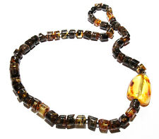 Unique Genuine Baltic Amber Adult Necklace 55.5 cm/21.9 in Mixed Amber Necklace