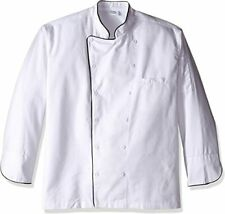 Dickies Chef Executive Coat With Stain Repellent With Piping, White/Black, Xl