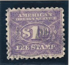 RK27 F-VF used consular revenue stamp with nice color cv $ 50 ! see pic !