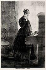 I CANNOT SING THE OLD SONGS, CLARIBEL CHARLOTTE ALINGTON BARNARD, ART PRINT 1868