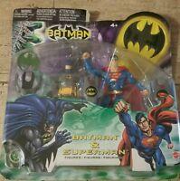 RARE NEW 2003 BATMAN & SUPERMAN ACTION FIGURE 2-PACK COLLECTOR SET MATTEL