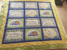Thank Heaven For Little Boys Baby Quilt Hand Made 58 x 58