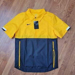Nike Lightweight Short-Sleeve Coaches Jacket Windbreaker 1/2 1/4 ZIP CI4479 NCAA