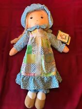 """Vintage Applause HOLLY HOBBIE 14"""" Rag Doll with Hang TAG"""