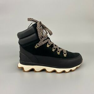 Sorel Kinetic Conquest Hiking Boots Black Velvet Tan Alpine Tundra