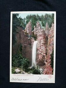 YELLOWSTONE NATIONAL PARK 1907 Tower Falls Detroit Publishing UDB Postcard