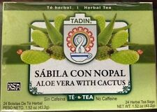 Tadin Tea Aloe Vera With Cactus 24 Bags - Te De Sabila Con Nopal