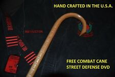 COMBAT CANE- SELF DEFENSE- MARTIAL ARTS-MADE IN THE USA  OAK CANE-STREET DEFENSE