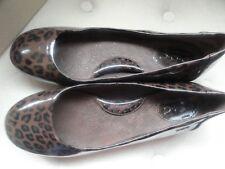 b.o.c. Sherbert Dark Brown Leopard Ballet Flats 8/39