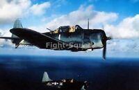 WW2 Picture Photo 1944 SBD-5 Dauntless bombers of USS Yorktown in flight 2281