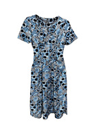 New Marks & Spencer Blue White Daisy Pattern Shift Tea Dress Size 8 10 12 16 NWT