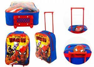 Spiderman Children Kids Boys Wheeled Cabin Hand Luggage Small Trolley Travel Bag