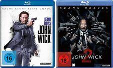 2 Blu-rays * JOHN WICK 1 + KAPITEL 2 IM SET - Keanu Reeves ~ FSK 18 # NEU OVP /$