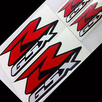 Suzuki GSXR decals reflective stickers 125 150 250 600 750 1000 red silver set r