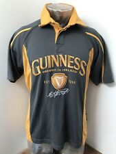 Men's Medium GUINNESS 1759 Rugby Polo Jersey Ireland Brewed Beer Official *Rare*