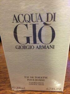 Aqua Acqua Di Gio Eau de Toilette EDT 6.7 - 6.8 by Giorgio Armani Men NIB