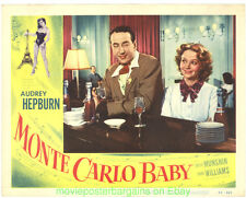 MONTE CARLO BABY LOBBY CARD 11X14 Size Movie Poster Card #4 AUDREY HEPBURN