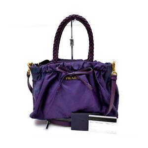 Prada Hand Bag  Purple Nylon 1728195