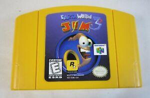 N64 Earthworm Jim 3D Nintendo 64 CARTRIDGE ONLY - Broken Chip - Parts/Repair