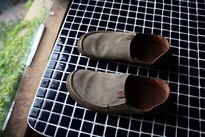 Green Leather Clarks Loafer Men's Size 8.5 Trapell Form Olive Nice EUC Leather