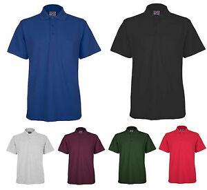 Mens BKS Polo Pique Classic T Shirt Size S to 5XL - SPORTS WORK LEISURE CASUAL