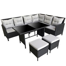 SVITA Polyrattan GARTENMÖBEL Poly Rattan Dining Lounge gruppe Set Ecksofa Couch