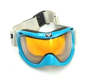 Roxy Anti-Fog Goggles For Skiing Or Snowboarding Teal Frame W/ White/Black Strap