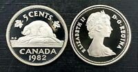 Canada 1982 Proof Gem UNC Five Cent Nickel!!