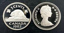 Canada 1982 Proof Gem UNC Five Cent Nickel!!