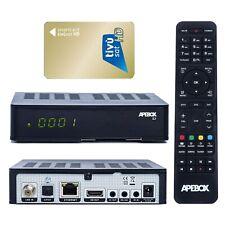 Apebox S2 Full HD 1080p H.265 LAN DVB-S2 Sat IPTV Receiver mit TIVUSAT hd Karte