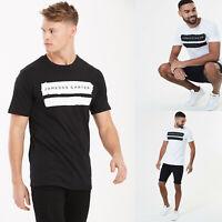 Mens Jameson Carter Crew Neck Short Sleve Designer Paint Stripe T shirt Tee Top