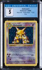 1999 Pokemon Base Set Shadowless #1 Alakazam - Holo CGC 5 EX PSA BGS
