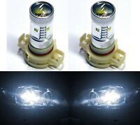 LED 30W 12085 5201 PS19W White 5000K Two Bulbs DRL Daytime Light Replace OE