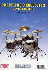 Practical Percussion (Kevin Edwards) Drum Sheet Music Book CD Learn Drumming NEW