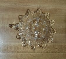 Small Pressed Glass Starburst  Candle Dish