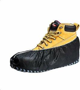Black Industrial Disposable Shoe Covers for Men and Women Premium Thickness Work