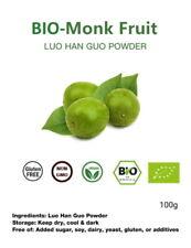BIO-ZERTIFIZIERT:100g 100% reine gemahlene Luo Han Guo, Mönchsfrucht, Monk fruit