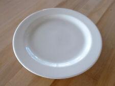 """Syracuse China Chateau 10-5/8"""" Plate - White Undec (950002569) (Dozen)"""