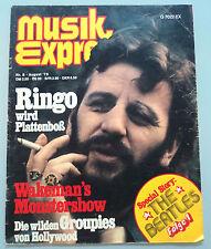 RINGO STARR  -  Clipping/Bericht aus dem Jahr 1975 - Musikzeitschrift