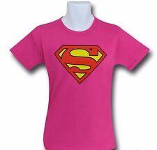 Supergirl Kids Pink Symbol T-Shirt - Medium (9-10)
