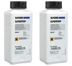 (Pack of 2) Ilford Ilfostop Odourless Stop Bath (500ml)