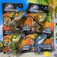 2020 Jurassic World Toy Snap Squad Wave 5 Mosasaurus Baryonyx (Set of 4pcs) NEW