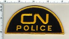 "Canadian National ""CN"" Police (Canada) Half-Moon Shoulder Patch from 1990"