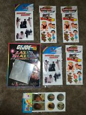 Vintage Michael Jackson, Flinstones Puffy Stickers and Holographic G.I. Joe