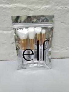 e.l.f. Rose Gold Travel Makeup Brush Kit New Cruelty Free and Vegan 4pc